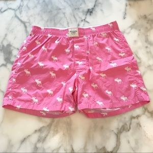 Abercrombie & Fitch Medium Pink Icon Boxer